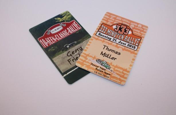 Das Pascal Kapp Rallye Team – Namensschild bzw. Badge